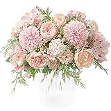 KIRIFLY Künstliche Blumen,Unechte Blumen Deko Künstlich Pfingstrose Gefälschte Seide Hortensien...