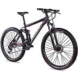CHRISSON 29 Zoll Mountainbike Fully - Hitter FSF schwarz rot - Vollfederung Mountain Bike mit 30...