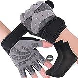Rongli Trainingshandschuhe Kraftsport, Fitness Handschuhe Anti-Rutsch Gewichtheben Handschuhe für...