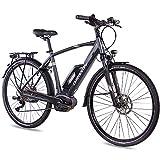 CHRISSON 28 Zoll Herren Trekking- und City-E-Bike - E-Actourus anthrazit matt - Elektro Fahrrad...