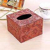YXYLQ Im Europäischen Stil Wohnzimmer Tissue Box Leder Pumpbox Serviettenbox Restaurant Ktv Papier...