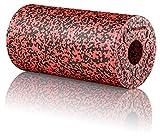 BODYMATE Faszienrolle Standard Mittel-Hart mit Gratis E-Book - Black/Pepper-Red 30x15cm