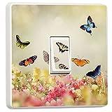stika.co Schönen Blumen und Schmetterlinge Design Lichtschalter Bezug, Single Haut Aufkleber,...