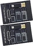 PEARL 2er-Set SIM-Karten-Organizer mit microSD-Card-Reader für USB OTG