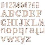 LegendTech 124PCS Holz Buchstaben und Zahlen Alphabet Dekorative Holzbuchstaben 0-9 Holznummern...