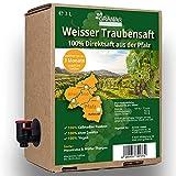 3 x 3 Liter Trauben Direktsaft weiß aus der Pfalz, 100% Traubensaft, vegan und ohne Zusätze - 3 x 3-Liter Boxen