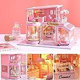 Wangyan 123 Valentinstag Geschenke für Freunde Frau Dessert Shop Design DIY Dollhouse Miniature...