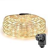 LE 10m LED Lichtschlauch, 240 LEDs Lichterschlauch IP65 Wasserfest, Lichterkette Strombetrieben mit...