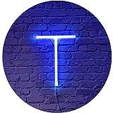 Blaue LED Neon Buchstaben Licht Schild Neon Festzelt Deko Lampe Dekoration für Geburtstag Party...
