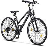 Licorne Bike Life-L-V (Schwarz/Grau) 28 Zoll Cross, Trekking, Mountainbike, MTB, geeignet ab 150 cm,...
