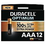Duracell NEU Optimum AAA Micro Alkaline-Batterien, 1.5V LR03 MX2400, 12er-Pack