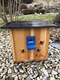 Garten und Holztrends XXXL Premium Hummelhaus (H4) Natur Hummelkasten, Hummelhotel, Hummelpension mit Wachsenmottensperre, Insektenhotel, Bienenhaus,Insektenhaus,Bienen