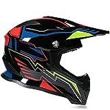Motocross Helm, Schutzbrille + Handschuhe + Knieschützer Profi Rallye Motorrad Helm Abnehmbarer Und Waschbarer Erwachsenenhelm Set A3
