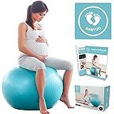 BabyGO Gymnastikball Schwangerschaft Sitzball Büro Schwangere Yoga Pezziball 65cm + KOSTENLOSE...