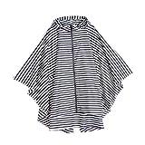 IPOTCH Atmungsaktiv Regenmantel, Wasserdicht Streifen Regenjacke Wiederverwendbar Regenbekleidung...