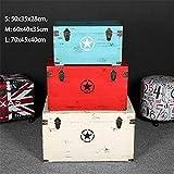 Wguili Truhen Koffer aus Holz Retro Massivholz-Box Kleidung Schaufenster...