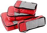 AmazonBasics Kleidertaschen-Set, 4-teilig, je 1 kleine, mittelgroße, große und schmale Packtasche,...