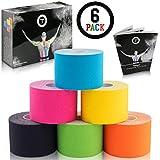 Talasi Kinesiologie Tape Set - 6 Rollen Mix zu je 5cm x 5m – inkl. Tape-Guide mit Infos und...