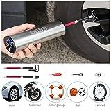 GHB Mini Auto-Luftpumpe Elektrischer Luftverdichter für Fahrrad Ball Ballon 150 PSI Portabel...