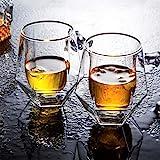 yingmu Whiskyglas, 2 STÜCKE 200 Ml Whiskyglas Doppelglas Cocktailglas, Ideal Zum Schenken Und Für...