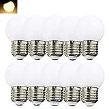 10per-pack LED G45 1W E27 Warmweiß 3000K 230V Dekorative Leuchtmittel für Partybeleu chtung...