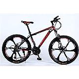 GuoEY Adult Mountainbike 26 Zoll 21-Gang-Einrad-Offroad-Fahrrad mit Variabler Geschwindigkeit...