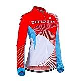 Damen Atmungsaktiv Schnelltrocknend Fahrradtrikot, Outdoor Lange Ärmel Radsport-Shirt (0022, XL)
