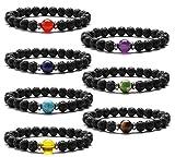 Armbänder Damen Herren Perlen Stein Armband Elastisch Armband 8mm Chakra Perlen Armband Yoga...