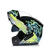 IAMZHL 2020 NeuesteModular Flip Motorrad Helm Voyage Racing Dual Lens Helm Innenvisier-a58-S