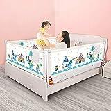 Bettgitter für Kleinkinder, Vertikal Anhebender Bettschutz Einstellbare Sicherheitsschutzgitter...