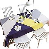 Bbye Tischdecke Einfache Art Geometrische Tischdecke Baumwolle Leinen Kunst Couchtisch Tischdecke...