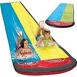 Dream-cool Wasserrutsche Rutschmatte, Riese Doppel-Wasserrutschbahn Rutsche Wassermatte Mit...