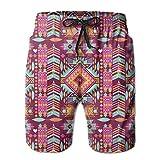Belongtu Aztec Words Aztec Geometric Men Summer Beach Boardshorts Herren Strandshorts Strandhose Hot...