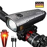 Antimi LED Fahrradlicht Set,StVZO Zugelassen USB Wiederaufladbar Fahrradbeleuchtung Set mit IPX5...