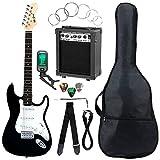 McGrey Rockit ST Komplettset E-Gitarre (8-teiliges Anfängerset mit Gitarre, Verstärker,...