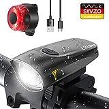 LIFEBEE LED Fahrradlicht, StVZO Zugelassen USB Wiederaufladbare Fahrradbeleuchtung Fahrradlicht...