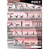POWRX Vibrationstraining Übungsposter DIN A1 I Vibration Plate Shape Trainer