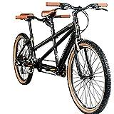 Galano Tandem Fahrrad 26 Zoll Mountainbike Oakland 24 Gang MTB Hardtail Fahrrad (schwarz, 48/41 cm)