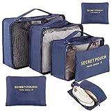 Newdora Kleidertaschen Set, 7 unterschiedliche Größen zur Organisation Ihres Reisegepäcks,...