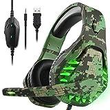 Gaming Headset für PS4 Xbox One PC Kopfhörer mit Mikrofon LED Licht Noise Cancelling Over Ear...