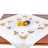 Stickpackung Schmetterlinge, Komplettes vorgezeichnetes Kreuzstich Tischdecken Set Zum Sticken,...
