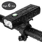 Fahrrad Scheinwerfer USB wiederaufladbare 1000 Lumen Fahrrad Frontleuchte hoch hell 6 Stunden...