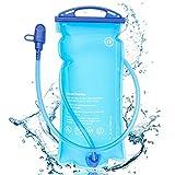 Nakeey Trinkblase 2L BPA-frei, Wasserblase mit Schlauch Wasserblase, Hydration Bladder, Sport Wasser...