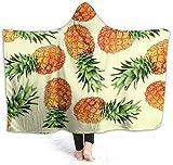 Colored Pineapple Womens Hooded Blanket Superweiche Flanelldecke Hoodie Tragbare Decke mit Kapuze...