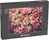 Puzzle 1000 Teile Rosa Rosen im Hintergrund. Retrofilter - Klassische Puzzle, 1000 / 200 / 2000...