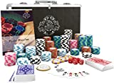Bullets Playing Cards - Pokerkoffer deluxe Pokerset mit 300 Clay Pokerchips Carmela,...