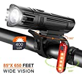 Fahrrad Licht Led Set StVZO Fahrradlicht Led Set USB,Fahrradlict Vorne Led USB Farradbeleuchtung...