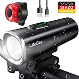 LIFEBEE LED Fahrradlicht Set, StVZO Zugelassen USB Fahrradbeleuchtung Fahrradlampe...
