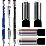 3pcs 2,0 mm Druckbleistifte mit Bonus 4 Cases Nachfüllungen, Farb- und Schwarzminen zum Zeichnen,...