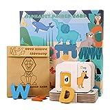 duhe189014 9,84 1,57 Zoll Kinder NEU Holz Alphabet Buchstaben Lernen Karten Set Wort Rechtschreibung Praxis Spiel Spielzeug Lernen Und Bildung richly